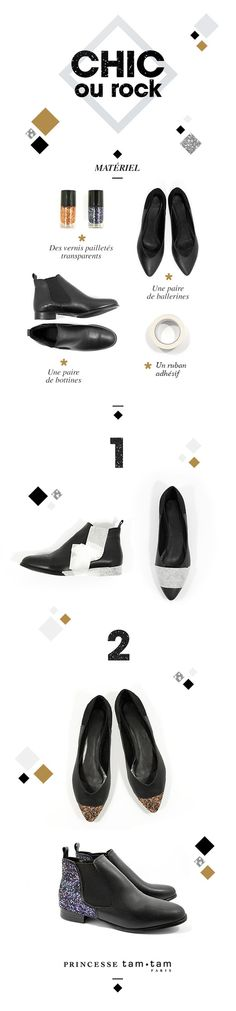 Un look chic ou rock mais toujours de Princesse avec ce tuto chaussures #ShineCalendar !