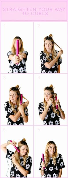 Tutorial: How to Curl Your Hair with a Flat Iron // #curls #primp