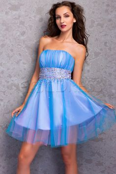 A-Line Mini Length Strapless Embroidery Miriama's Prom/Homecoming Dress Junior Prom Dresses- ericdress.com 9653343