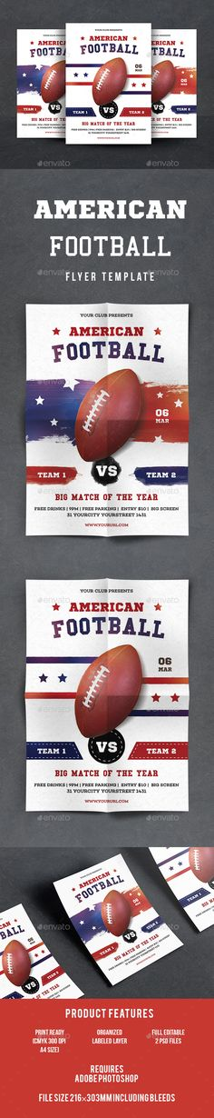 Football Super Series Sports Flyer Flyers, Football and Sports - foot ball square template