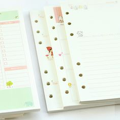 Cheap diary refill, Buy Quality refill directly from China school planner Suppliers: Mercii Diary Refills Spiral Notebook Replace Paper Core 6 Holes Refill Notepad Stationery School Planner Ring Binder Paper Korean Stationery, Stationery Items, Cute School Supplies, Office And School Supplies, Paper Binder, A5 Binder, Cute Diary, School Organisation, School Accessories
