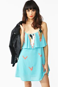 Aztec Sequin Dress #need