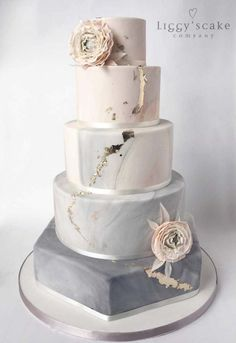 Trendy Wedding Colors 2019 ★ wedding colors 2019 marble wedding cake silver sage with roses and gold foil effect liggyscakes colors 2019 The Best Wedding Color Ideas For 2020 Floral Wedding Cakes, Wedding Cake Designs, Modern Wedding Cakes, Floral Cake, Silver Wedding Cakes, Pink And Grey Wedding Cake, Gold Wedding, Scottish Wedding Cakes, Grey Wedding Theme
