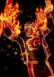 Calgary Flames Ice Hockey Teams, Hockey Stuff, Hockey Players, Auburn Football, Hockey Cards, Human Soul, Fire And Ice, Calgary, Ufc