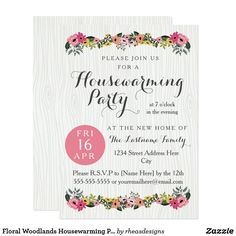 Help friends transform residences into properties along with housewarming lays out by using personalized gifts. Housewarming Party Invitations, House Blessing, House Warming, Rsvp, Personalized Gifts, Joy, Floral, Party Ideas, Friends