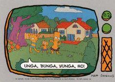 1990 Topps The Simpsons #82 Unga, Bunga, Yunga, Ho! Front