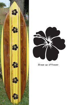TIKI SOUL DECORATIVE SURFBOARD ART - Native Hawaiian 2  Surfboard decor, beach decor, surfer, decorative surfboard wall art