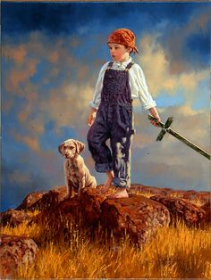 Jim Daly, Swashbuckler...love little boys being little boys, exploring the world with a puppy by their side. :-)