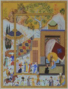 Biblical story of baby Jesus talking painted by Haydar Hatemi.