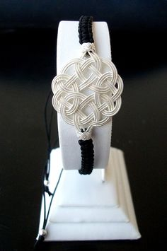 Turkish pure totally silver Celtic love knot bracelet hand made Kazaziye Trabzon #Ebsem #Woven