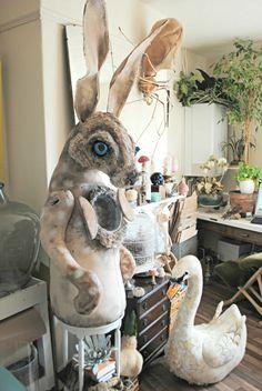 Artist Creates Enchanted Specimens From Vintage Materials - Mr Finch Paper Mache Sculpture, Textile Sculpture, Soft Sculpture, Sculptures, Mister Finch, Paperclay, Textile Artists, Fabric Art, Art Studios