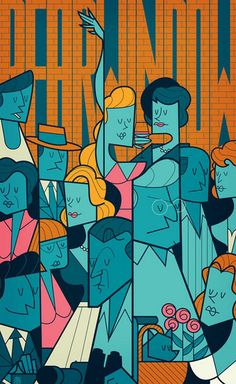 I like the limited color palette and the stylization of the people. I think it's interesting.