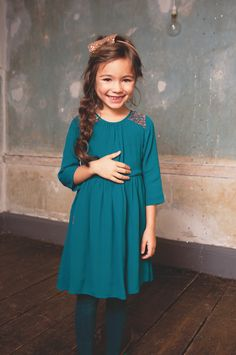 @ilovegorgeous Greenland Dress- Teal #AW14