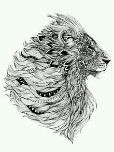 Leão tribal…