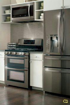 Unique Stainless Steel Indoor Kitchen Cabinets