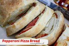 Mommy's Kitchen: Pepperoni Pizza Bread {Carson Approved}
