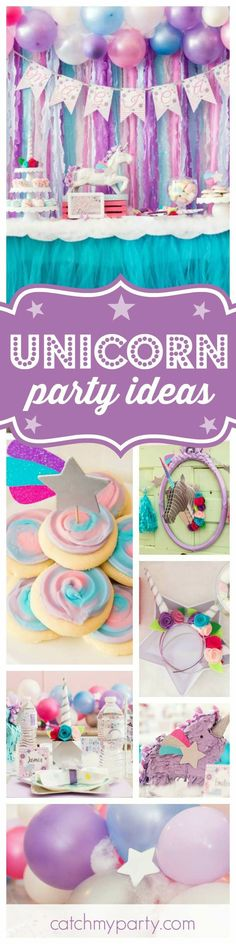 Unicorn Party Theme and Colors
