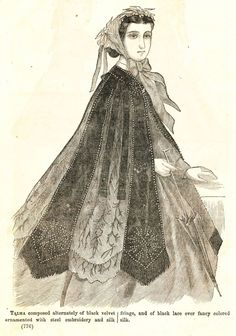 what-i-found: Civil War Fashions - Engravings from 1864 Ladies Friend Magazine - Hats, Capes, Hair