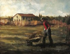 Image result for paintings of mountain farmer