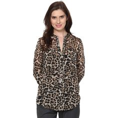 30% off on Animal Print Chiffon Daisy #Shirt  #fashion #style #trend #tops #onlineshopping #sale #discount  http://goo.gl/RvONVV