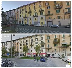Via Amerigo Vespucci, Milan, Italy Urban Ideas, Urban Architecture, Pedestrian, Urban Planning, Urban Design, Milan Italy, The Neighbourhood, Street View, Landscape