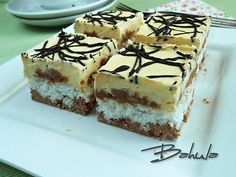Bounty řezy :: Jana v pohodě Czech Recipes, Ethnic Recipes, Torte Recepti, Wedding Desserts, Nutella, Sweet Recipes, Tiramisu, Cheesecake, Food And Drink