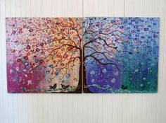 I loves trees in paintings