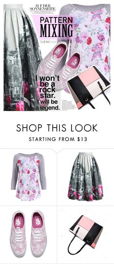"""""""Head-to-Toe Pattern Mixing"""" by vanjazivadinovic ❤ liked on Polyvore featuring Chicwish, Vans, polyvoreeditorial, patternmixing and twinkledeals"""