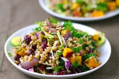 Farro Salad with Butternut Squash, Caramelized Onions, & Brown Butter Sage Sauce recipe on Food52