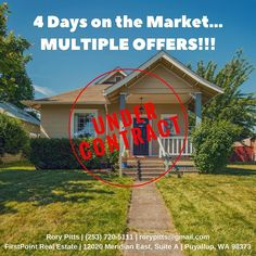 In this market almost any  can throw a FOR SALE sign in the ground! However it takes a professional to help position your  to sell with multiple offers! Contact us today and learn how we can help you with your next  sale and learn about the difference between a CMA and a market-driven value.  #homesellers #realestate #homes #listings #property #craftsman #undercontract #tacoma #thecaffeinatedrealestateagent