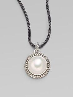 David Yurman Mabe pearl and diamond pendant.