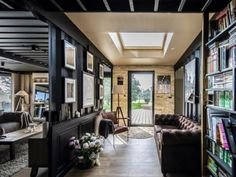 He Built His Luxury House Alone with Six Containers in France - Living in a Container Cargo Container Homes, Shipping Container Home Designs, Container Buildings, Container Architecture, Container House Plans, Sustainable Architecture, Architecture Design, Shipping Containers, Contener House