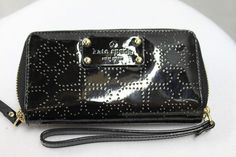 Kate Spade Jazzy Metro Black Patent Perforated Wristlet Wallet MSRP $158 NEW | Clothing, Shoes & Accessories, Women's Handbags & Bags, Handbags & Purses | eBay!