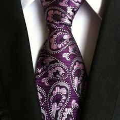 Cheap neckties bulk, Buy Quality necktie necklace directly from China necktie belt Suppliers: High Quality Paisley Purple Floral Silk Necktie New Fashion Jacquard Woven Classic Ties Men Gravata Corbatas Ties Retro Party, Mens Wedding Ties, Paisley, Formal Tie, Photo Pattern, Tie Styles, Suit And Tie, Jacquard Weave, Silk Ties