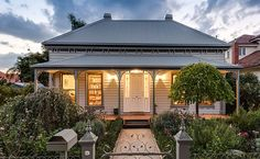 Harkaway Homes FREECALL - 1800 806 416 designers and suppliers of fine reproduction homes including the Classic Victorian & Early Federation Verendah homes. We service Victoria, NSW, South Australia, Tasmania and Southern Queensland. White Trim, Residential Architecture, Architecture Design, Australian Architecture, Landscape Architecture, Farmhouse Style, Farmhouse Decor, Farmhouse Ideas, Sydney