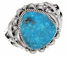 Navajo Turquoise Native American Bracelet Jewelry GS57643 SilverTribe. $369.99
