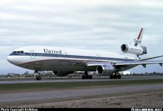 My Favorite Airliners of all time, the Tri-Jets! Helicopter Plane, Air Photo, Commercial Aircraft, United Airlines, Civil Aviation, Aircraft Pictures, Air Travel, Vintage Advertisements, Airplane