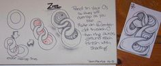 Zroz. Zentangle Pattern by Dawn Maurice / A Tangle in Time.