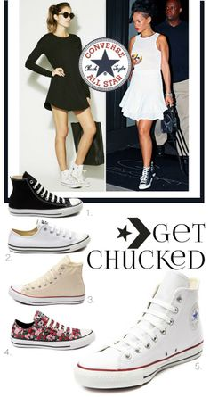 summer shoes, sneakers, converse, chuck taylors, high tops, classic sneakers, white shoes, how to wear chuck taylors, Rihanna style, street style, fashion, style, fashion blogger, shoes, summer style, spring style, classic