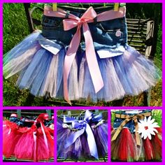 baby bump boutique denim tutu skirts are the cutest in children's couture fashion~ purchase yours today at www.babybumpz.com