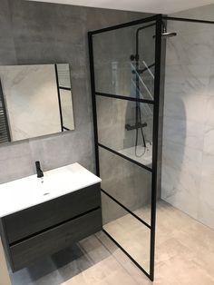 As soon as you have decided that you wish to buy a new bathroom shower stall, as well as how big of one you can acquire, you will need to start looking for your shower. Bathroom Interior, Modern Bathroom, Small Bathroom, Hotel Bathroom Design, Serene Bathroom, Dyi Bathroom, Craftsman Bathroom, New Toilet, Bathroom Renovations