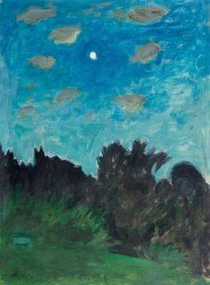 Landscape in Moonlight - Ernst Morgenthaler , 1944. Swiss, 1887–1962 Oil on canvas, 54 x 65 cm.