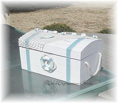 BEACH Wedding Card Box Cottage Chic Wood by WildExpressionsBride  www.wildexpressionsbride.etsy.com
