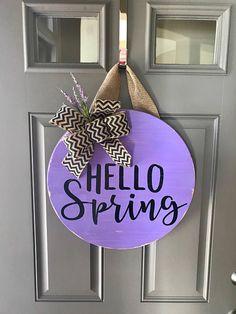 Door Hanger Spring Decor Front Wreath Wreaths For