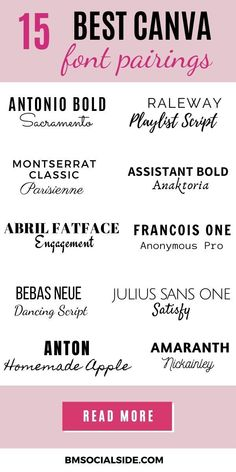 Find gorgeous font pairings to help improve pin design. Want to know why fonts and font pairings are important to your brand? Graphic Design Fonts, Branding Design, Web Design, Social Media Marketing Business, Digital Marketing Strategy, Font Pairings, Font Combinations, Grafik Design, Motivation
