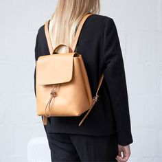 Alfie Two - Basic Backpack - Small - Tan from alfie douglas