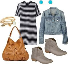 Style Target ankle boots with a casual dress...more ideas here!