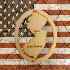 Beautifully Handcrafted New Jersey Christmas Ornament! Personalized Free!