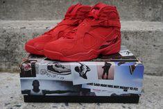 37188a8e892631 Nike Air Jordan Retro 8 VIII Valentines Day AQ2449-614 Gym Red Suede WMNS 9   Nike  HighTop