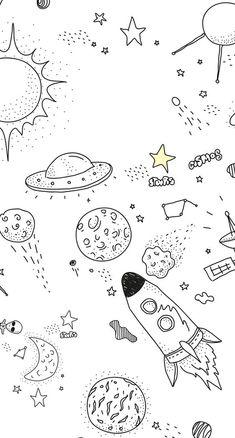 Cosmos & stars doodles by @almasangsterdelarosa | bullet journal | drawing.